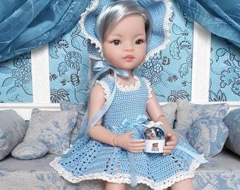 Offre groupée - Tutoriel robe et chapeau au crochet pour poupée Paola Reina Las Amigas 32 cm - fichier PDF