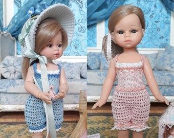 Combi Belle Epoque au crochet pour poupée Paola Reina Las Mini Amigas 21 cm - fichier PDF