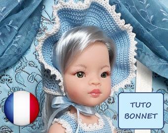 Tutoriel chapeau au crochet pour poupée Paola Reina Las Amigas 32 cm - fichier PDF