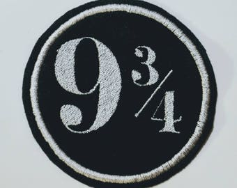 Hogwarts Express platform 9 3/4 embroidered patch