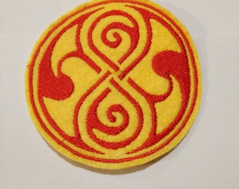 Dr Who Rasillon embroidered patch