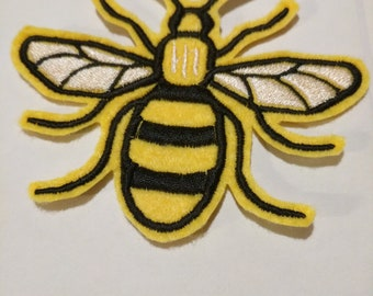 Manchester Bee embroidered patch