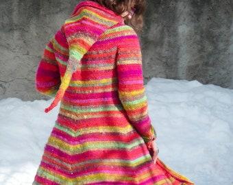CROCHET PATTERN - Boréal hooded elf fairy coat