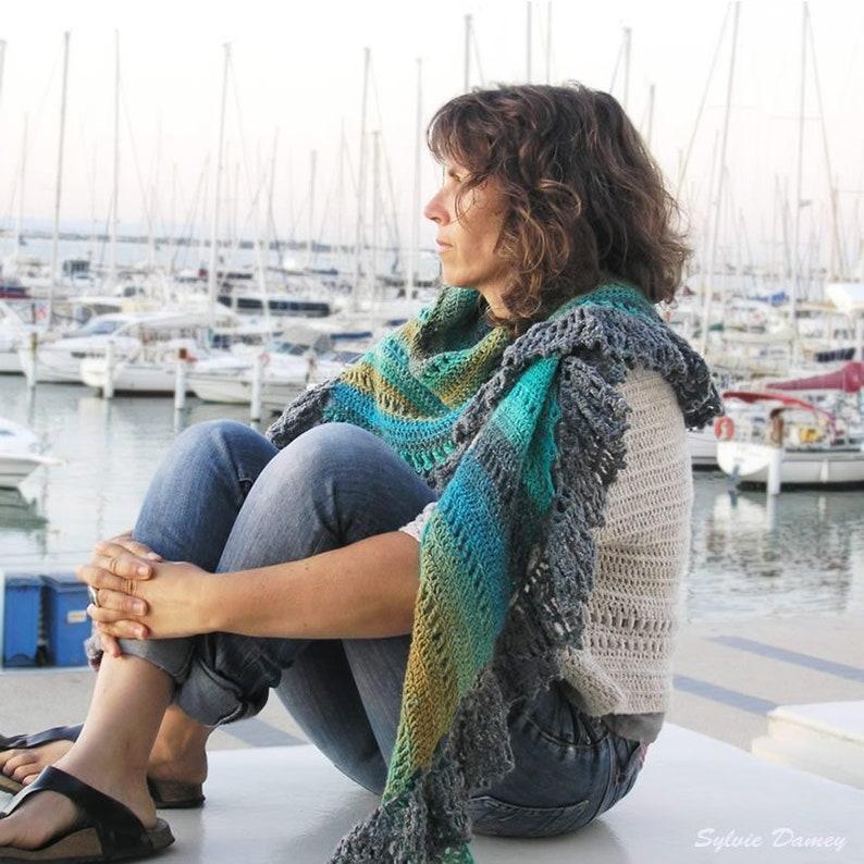Camargue shawl crochet pattern in pdf image 0