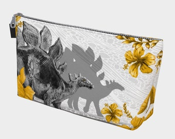 Jurassic Stegosaurus Make Up Bag - Noir