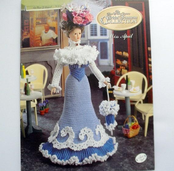 Bridal Trousseau crochet pattern booklet NEW Miss September ~ fits Barbie dolls