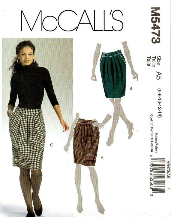 McCall\'s 5473 Misses Skirt Modern Sewing Pattern Size 6 | Etsy