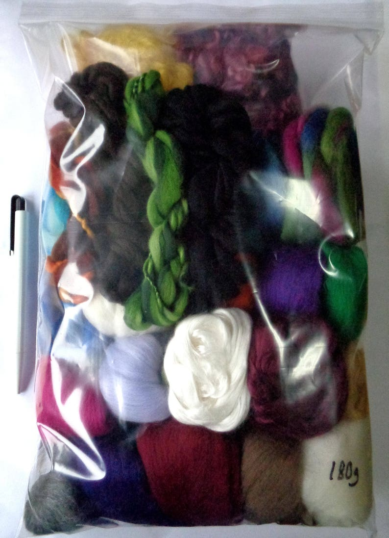 100g Genuine Wool Top Fibre Roving For Needle Felting Materials Lot 10 Color