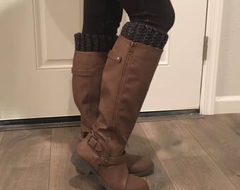 Thick Boot Cuffs (Charcoal Grey)