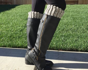 Thick Boot Cuffs (Marble Grey)