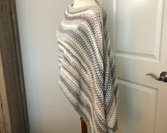 Asymmetrical Poncho (Striped)