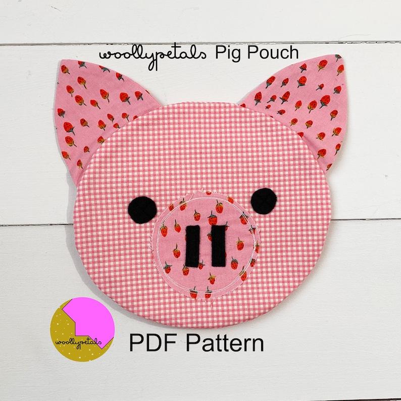 Pig Pouch PDF Pattern image 0