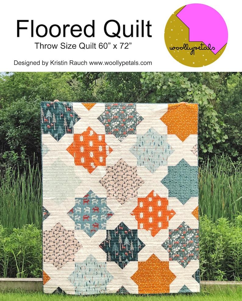 PDF Pattern  Floored Quilt  PDF Download image 0