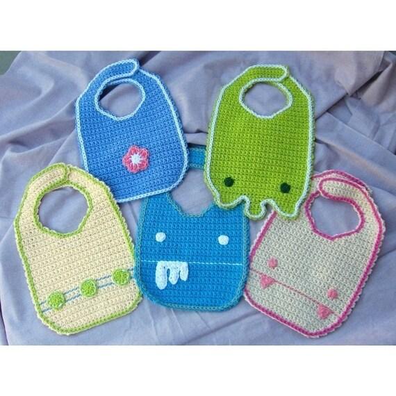 Crochet Baby Bib Pattern Pdf Etsy