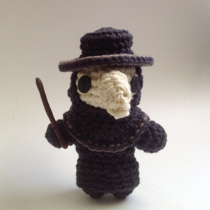 Crocheted Plague Doctor Pattern PDF image 0