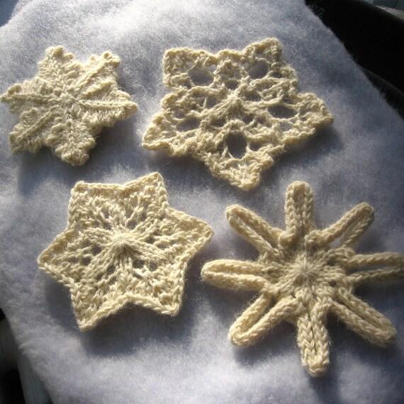 Knit Snowflakes Pattern Pdf Etsy