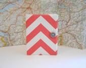 Passport Cover / Passport Holder / Passport Wallet / Passport Case -- Coral Chevron