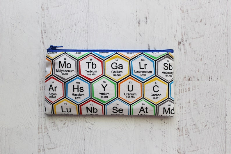long zipper pouch gifts for science teacher Table of elements pen and pencil case back to school essentials NO XMAS delivery