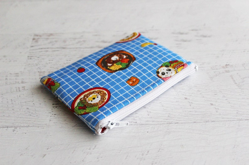 animal bento boxes print zipper pouch tiny treasures zip pouch school lunch money bag NO XMAS delivery