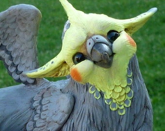 Aero the Gryphon - ooak Polymer clay Sculpture