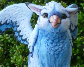 Blew the Gryphon - ooak Polymer clay Sculpture