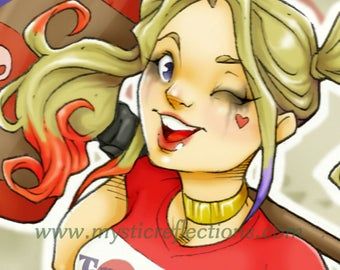Trouble Maker Harley Quinn Art Print