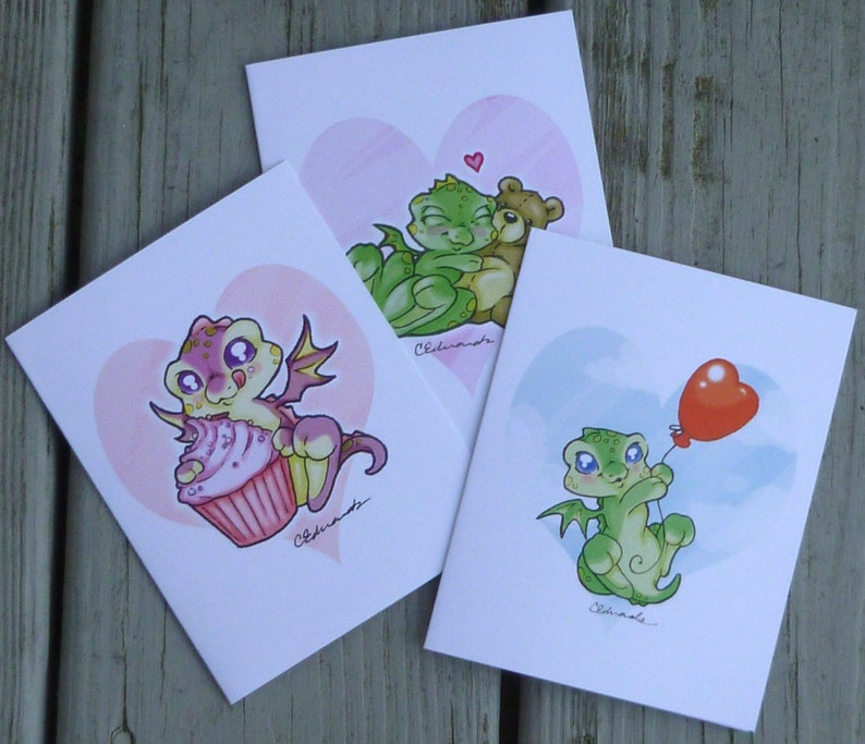 Myxie Dragon Doodle Valentine's Day Cards image 0