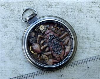 Scorpion Steampunk Pocket Watch Sculpture