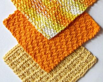 6 Ecofriendly Knit Dishcloth Patterns Tutorials - E-book PDF -  Fast Easy DIY  - Instant Download