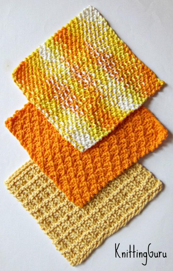 6 Ecofriendly Knit Dishcloth Patterns Tutorials E Book Pdf Etsy