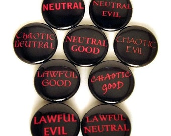 Gaming Alignment set of 9 - buttons or magnets