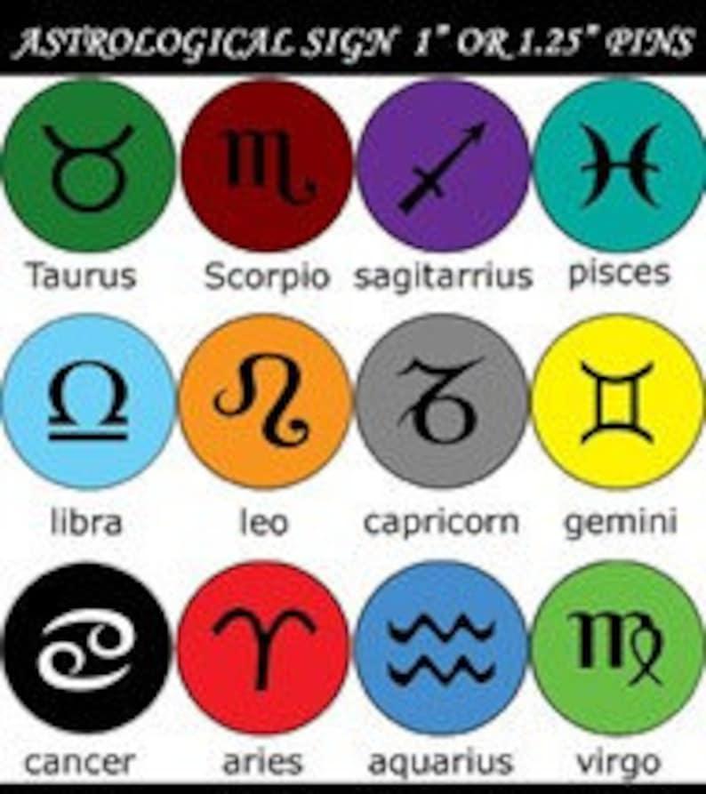 Capricorn Zodiac Astrology Sign Button Magnet or Bottle | Etsy