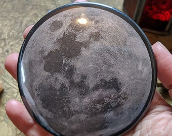 """Silver Moon Magnet or Hand Mirror - 2.25"""" or 3.5"""""""