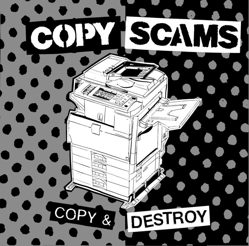 Copy Scams  Copy & Destroy 10 inch vinyl record digital image 0