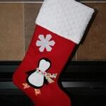 Penguin Christmas Stocking, Personalized Christmas Stocking, Custom Christmas Stocking,Holiday Stocking