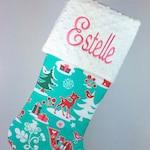 Christmas Stocking, Personalized Christmas Stocking, Monogrammed Christmas Stocking, Baby Christmas Stocking, Monogrammed Baby Stocking