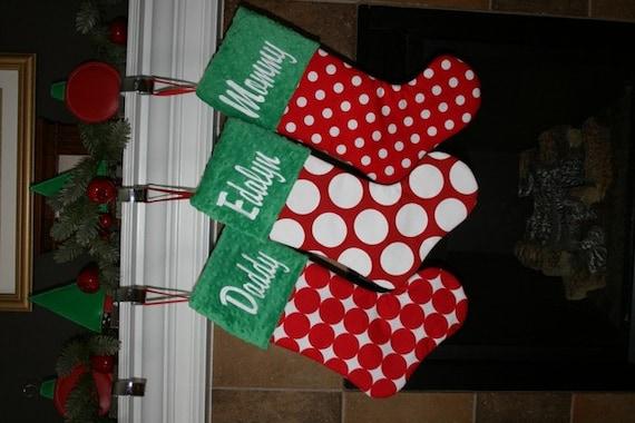 image 0 - Embroidered Stockings Christmas
