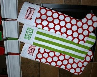 Personalized Jumbo Christmas Stocking - You CHOOSE the fabric