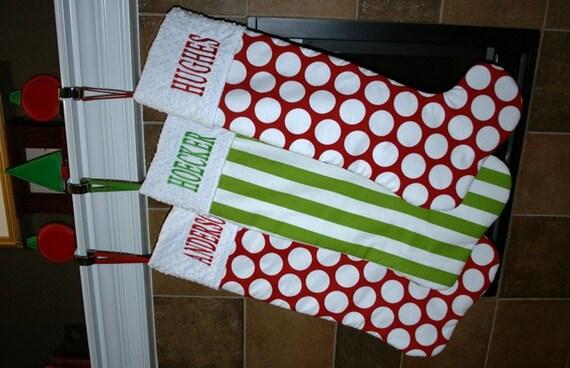3707840a3b7 Personalized Jumbo Christmas Stocking You CHOOSE the fabric