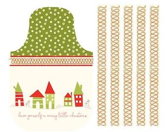 Christmas Apron DIY, Christmas Apron Panel, Riley Blake Christmas Apron Panel P9646 Cream, Christmas Apron Personalized, Apron for Christmas
