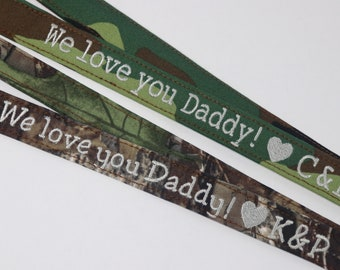 Father's Day Gift, Lanyard for Dad, Camp Lanyard, Real Tree Lanyard, Gift for Father, Personalized Lanyard, Military Dad, Grandfather gift