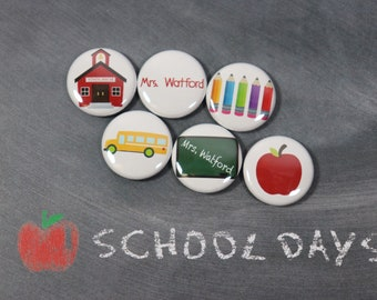 School Days Teacher Magnets, Dry Erase Magnets, Teacher Appreciation Gift Personalized, School Magnets, Gift for Teacher, School Magnets