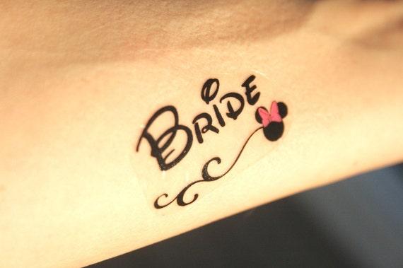 Disney Theme Team Bride Bachelorette Temporary Tattoos Etsy