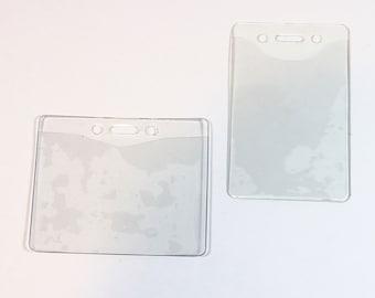 lanyard id holder, plastic id holder for lanyard