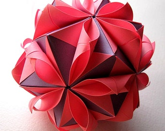 Origami flower ball etsy popular items for origami flower ball mightylinksfo