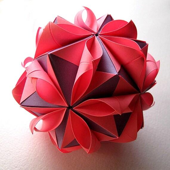 Origami Flower Ball Etsy