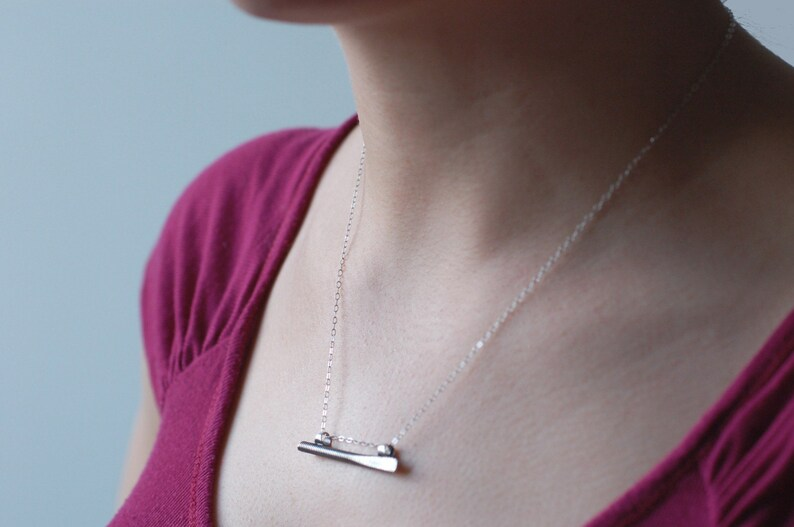 Balance  Necklace Pendant in Sterling Silver  18 inch chain image 0