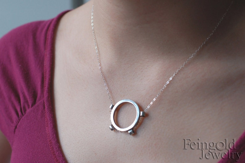 Infinity Pendant in Sterling Silver  18 inch chain  Free US image 0
