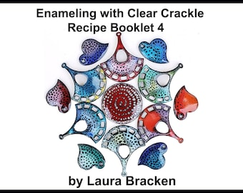 Part 4 Enamel Recipe Tutorial for Crackle Clear 80 Mesh for Kiln or Torch Enameling Vitreous  Enamel