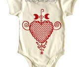 Amour on Natural Organic Onesie Unisex Size 0-6 mos 6-12 mos 12-18 mos 18-24 mos Water based screen print on baby apparel